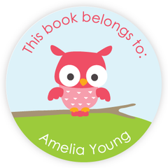 personalized bookplates | owl