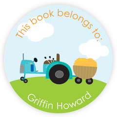 personalized bookplates | tractor