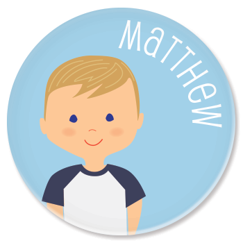 personalized childrens plate | boy
