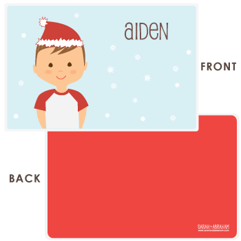 personalized Christmas placemat | boy