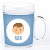 personalized mealtime set | boy face