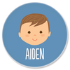 personalized childrens plate | boy face