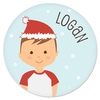 personalized Christmas plate | boy
