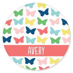 personalized plate | butterflies
