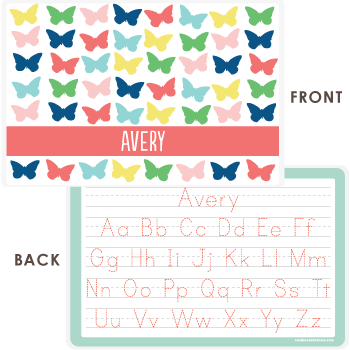 personalized kids placemat | butterflies