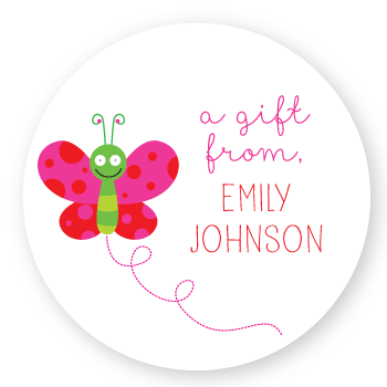 gift labels | butterfly