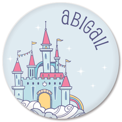 personalized kids plate | fairy castle