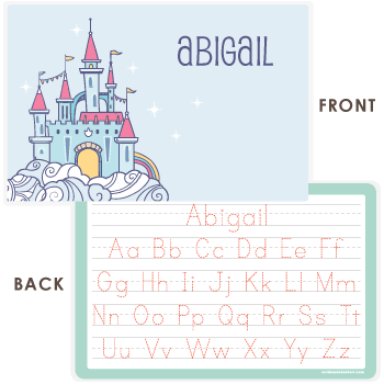 personalized kids placemat | fairy castle