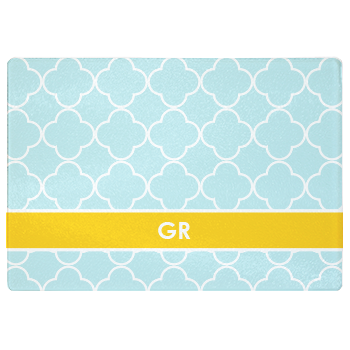 personalized cutting board | pool quatrefoil