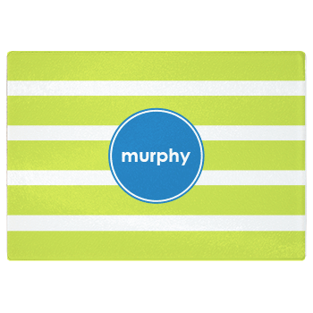 personalized cutting board | green stripes