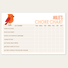 chore chart notepad | bird
