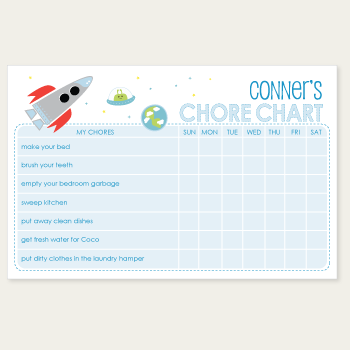 chore chart notepad | outer space