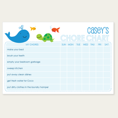 chore chart notepad | turtle