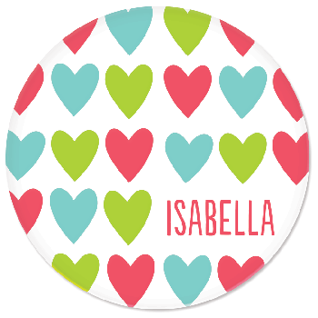 personalized plate | cheerful hearts