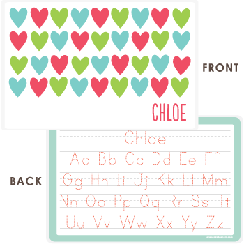 personalized kids placemat | cheerful hearts