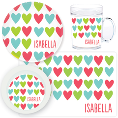 personalized mealtime set | cheerful hearts