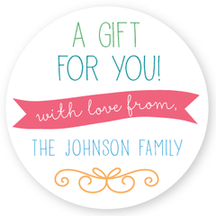 "gift labels | 3"" circles"