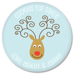 personalized cookies for Santa plate | reindeer