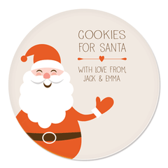 personalized cookies for Santa plate | Santa Claus