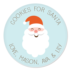 personalized cookies for Santa plate | Santa Face