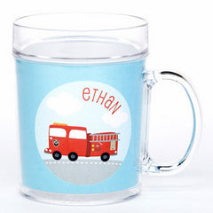personalized cup | firetruck