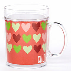 personalized cup | hearts