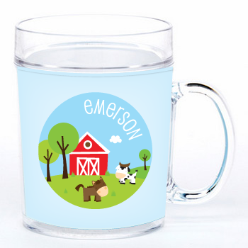 personalized cup | horse and cow