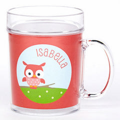 personalized cup | cheerful owl