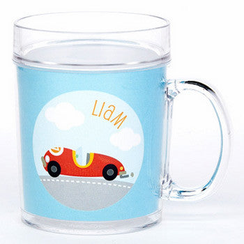 personalized cup | race car