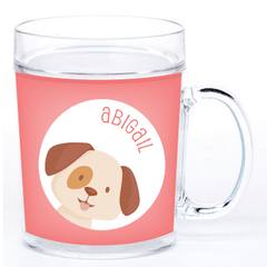 personalized cup | dog face - pink