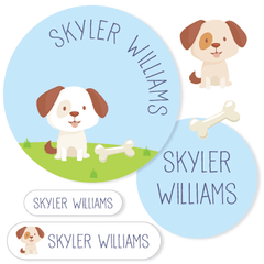 name labels | dog