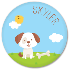 personalized kids plate | dog