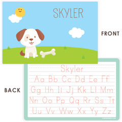 personalized kids placemat | dog