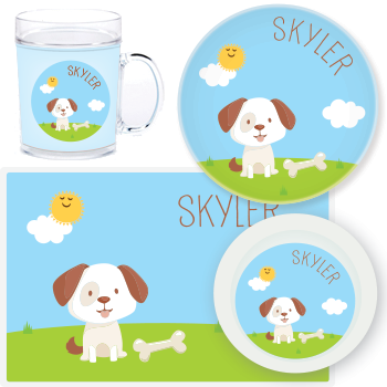 personalized mealtime set | dog