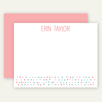 personalized note cards | blossom dots