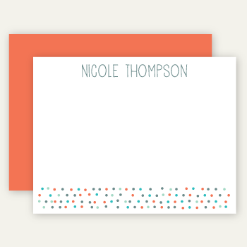 personalized note cards | papaya dots