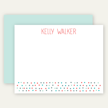 personalized note cards | pool dots
