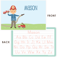 personalized kids placemat | firefighter