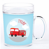 personalized mealtime set | fire truck