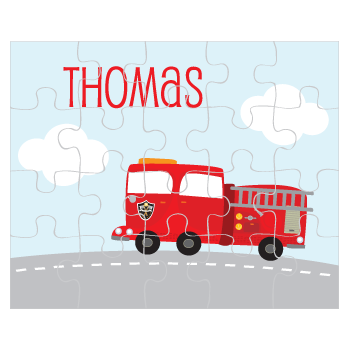 personalized puzzle | fire truck