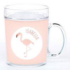 personalized cup | flamingo
