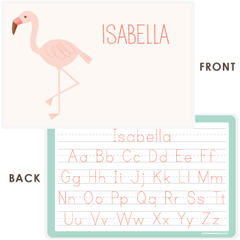 personalized kids placemat | flamingo