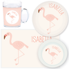 personalized mealtime set | flamingo