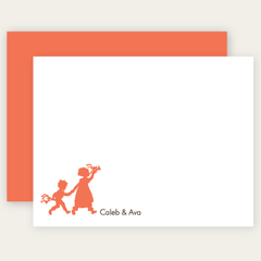 2 sibling flat note cards | choose-your-silhouettes