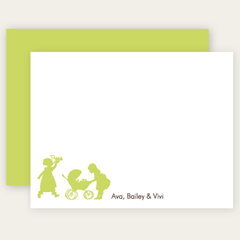 3+ sibling flat note cards | choose-your-silhouettes