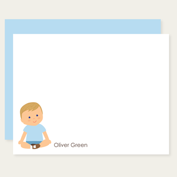 custom childrens flat cards | baby boy