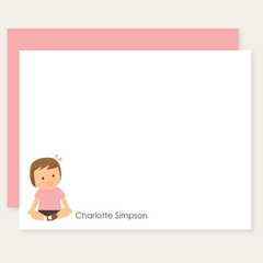 custom childrens flat cards | baby girl