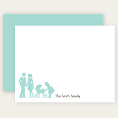 flat family note cards | choose-your-silhouettes
