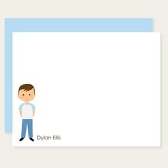custom childrens flat cards | boy