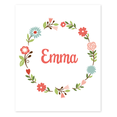 personalized floral art print